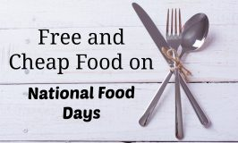 Cheap and Free Food on National Food Days